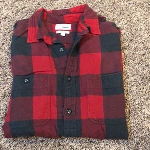 Red and Black checkered button up